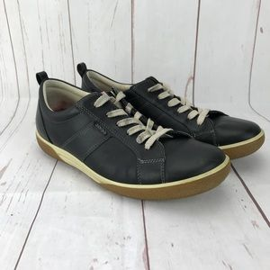 Ecco Black Leather Sneakers Size 39